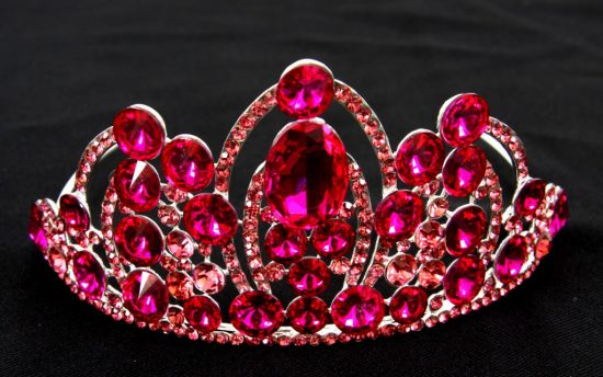 Dark Pink Ab Tiara