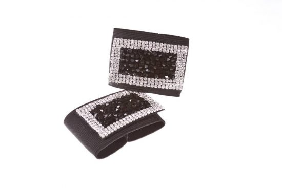 Diamond & Crystal Buckles Black