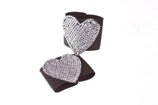 Diamond & Crystal Buckles Black Heart