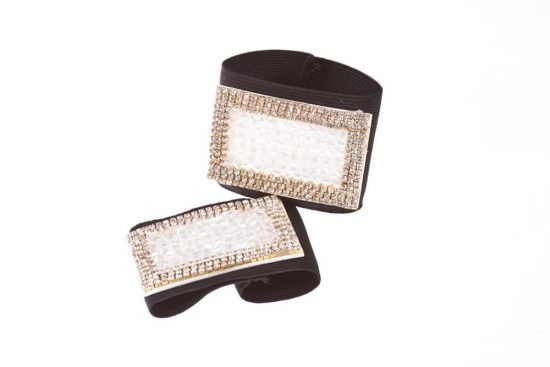 Diamond & Crystal Buckles White
