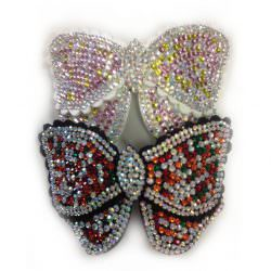 Diamonte Butterfly Clips