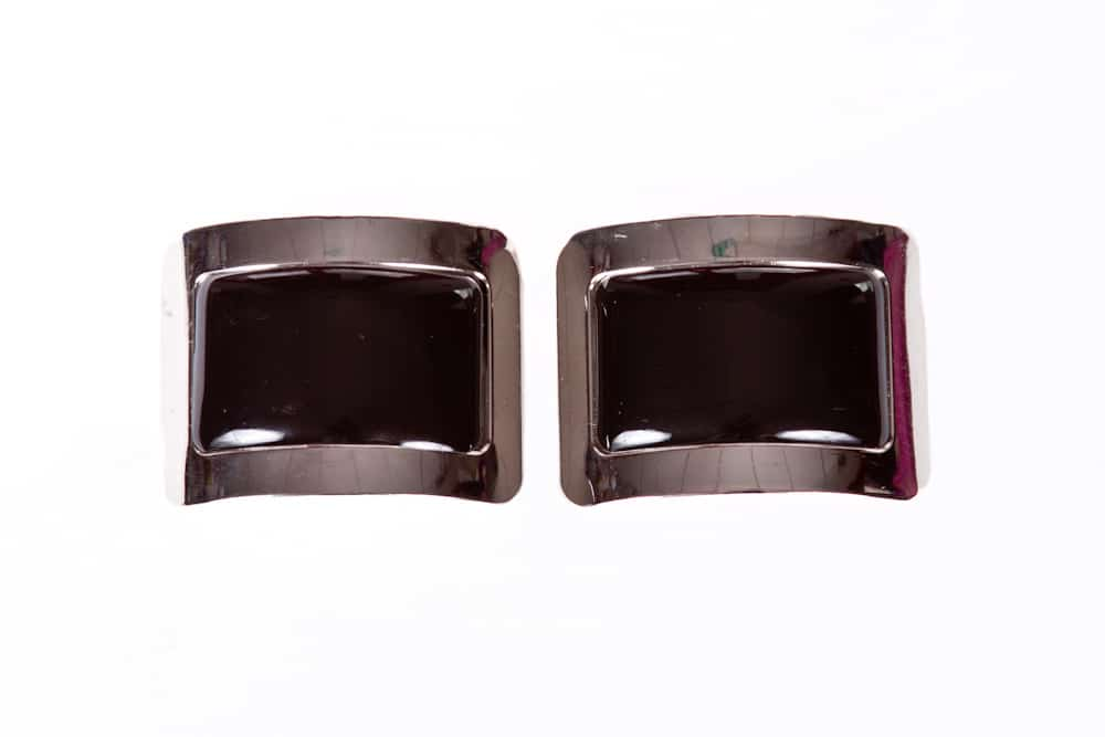 Disco Buckles Shiny Black