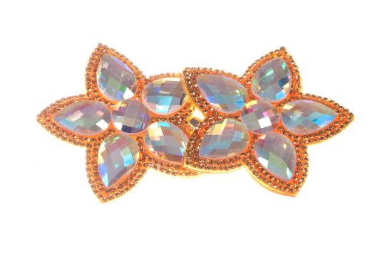 Double Bella Flower Clip Orange