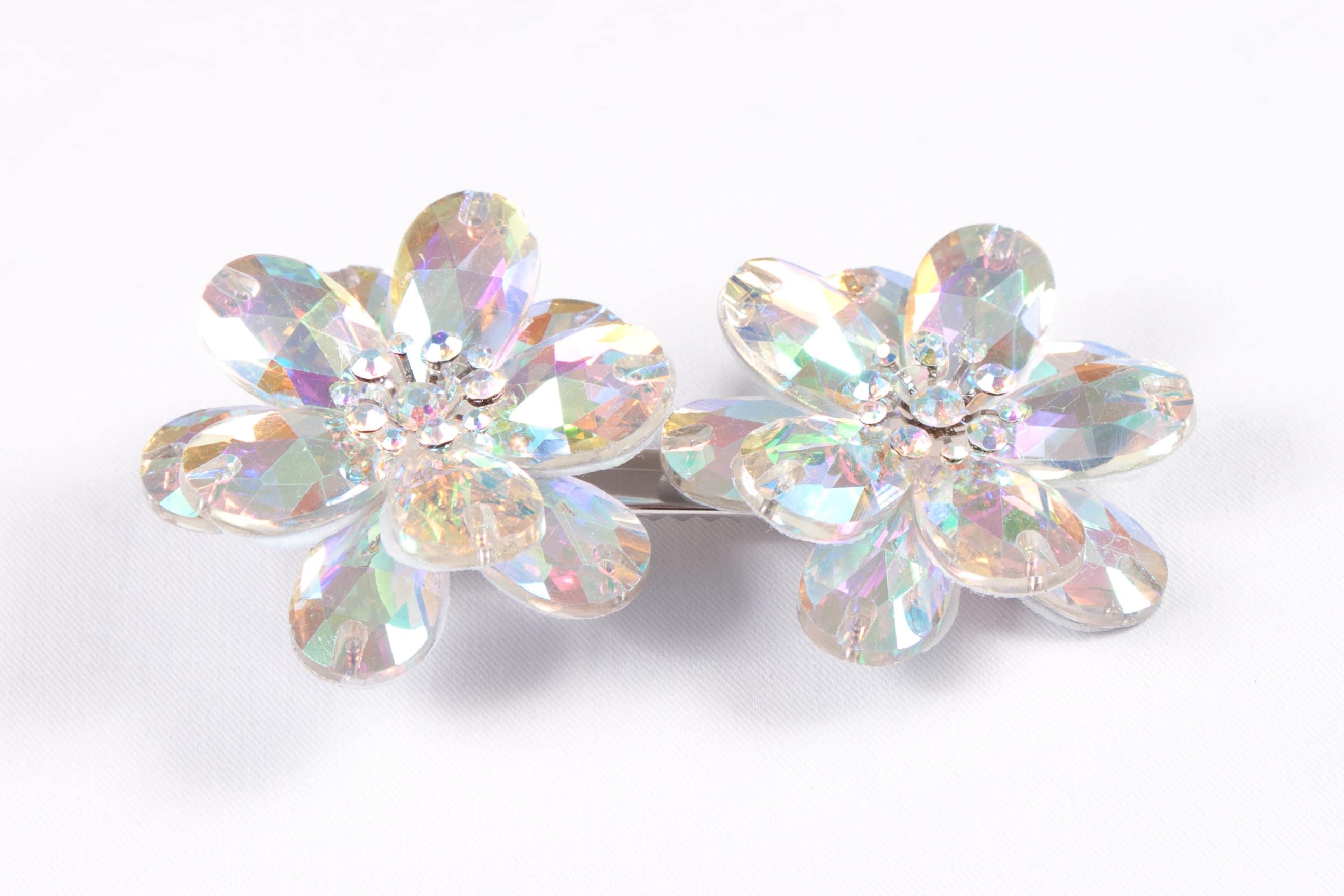 Double Diamond Flower Clip Ab