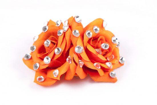 Double Rose Clip Orange