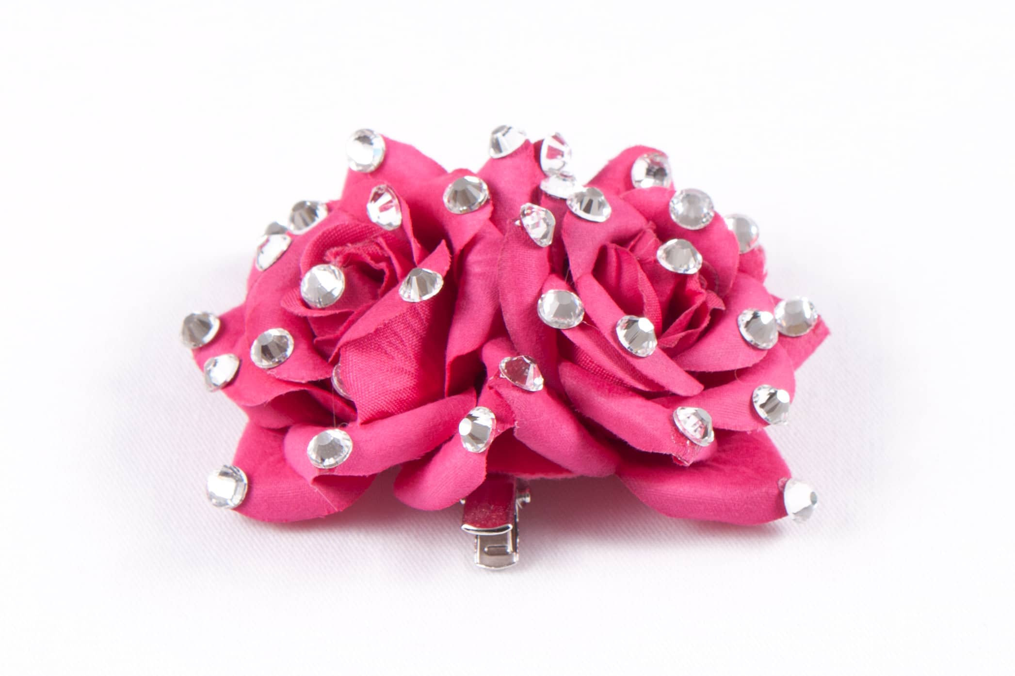 Double Rose Clip Pink (1)