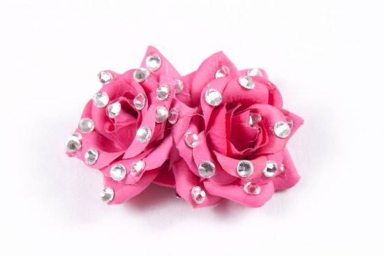 Double Rose Clip Pink (2)