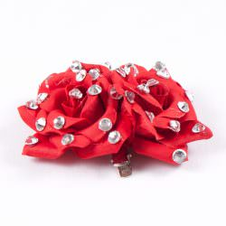 Double Rose Clip Red