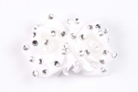 Double Rose Clip White