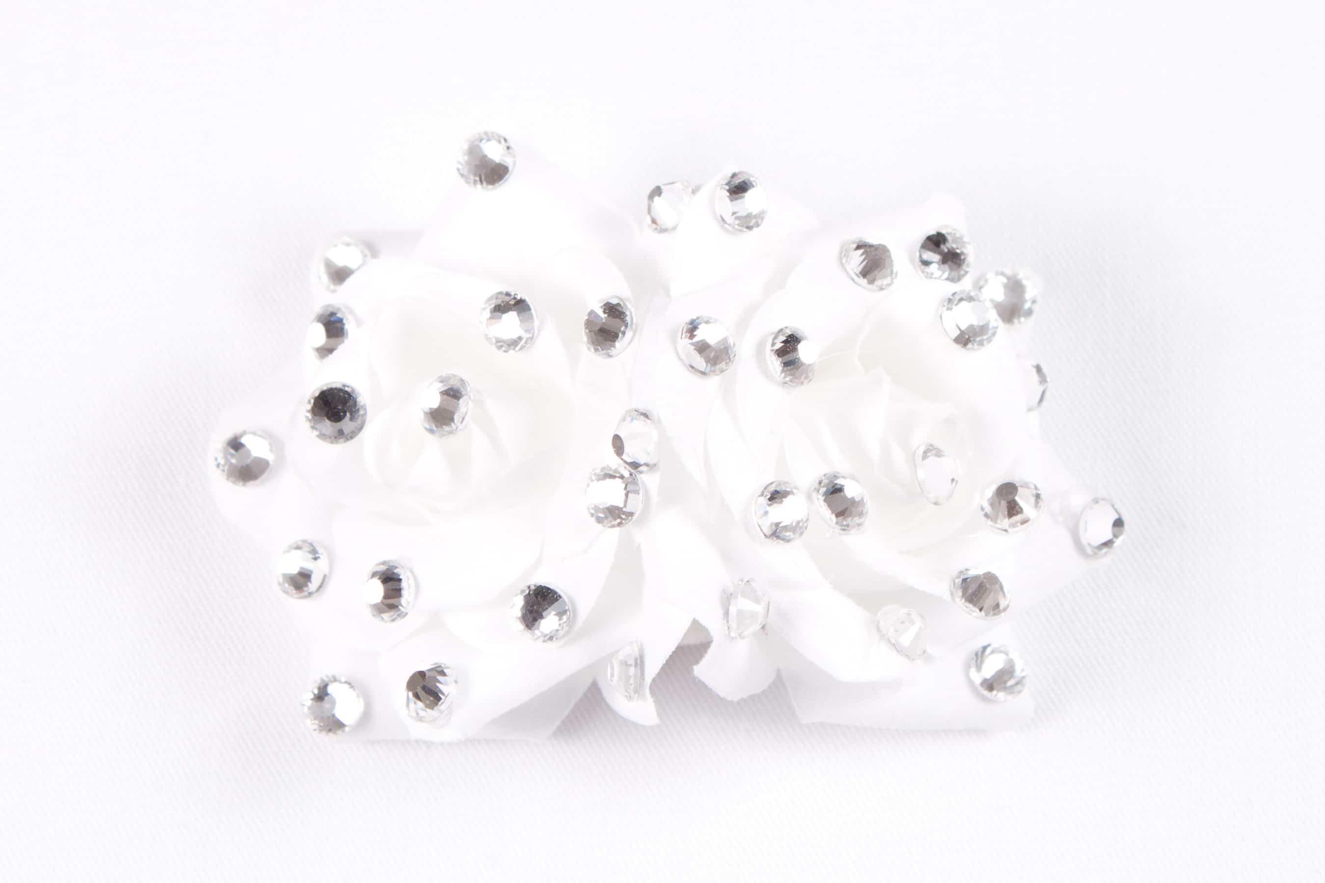 Double Rose Clip White