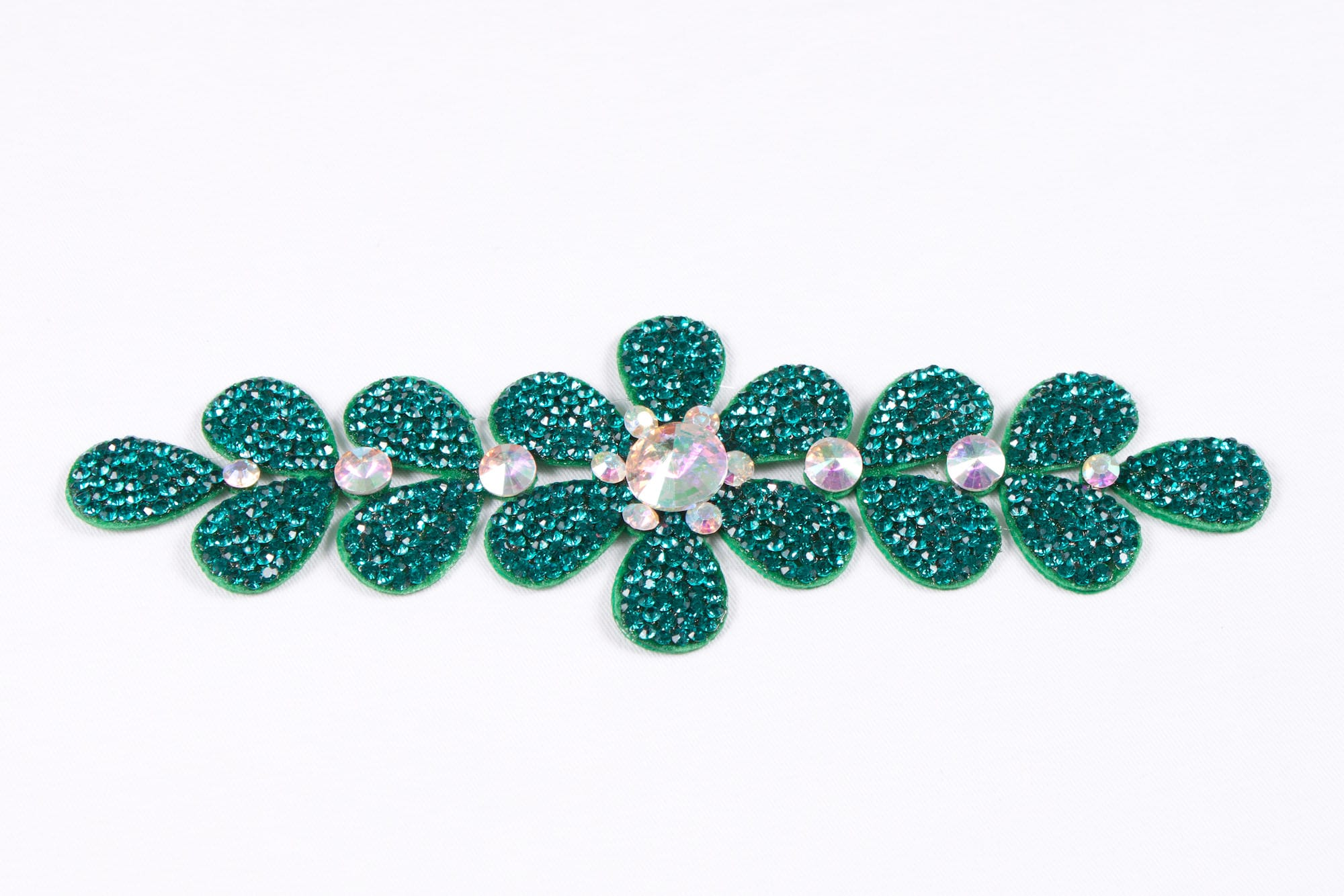 Flower Strip Peacock Green