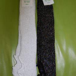 Glittery Stirrup Leg Warmers