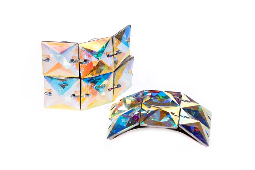Large Sqaure Diamond Ab Buckles 2