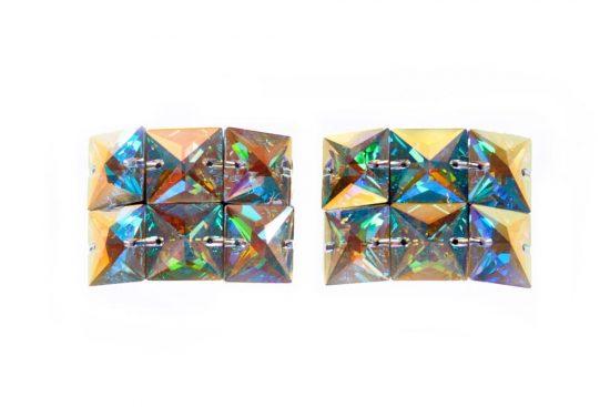Large Square Diamond Ab Buckles