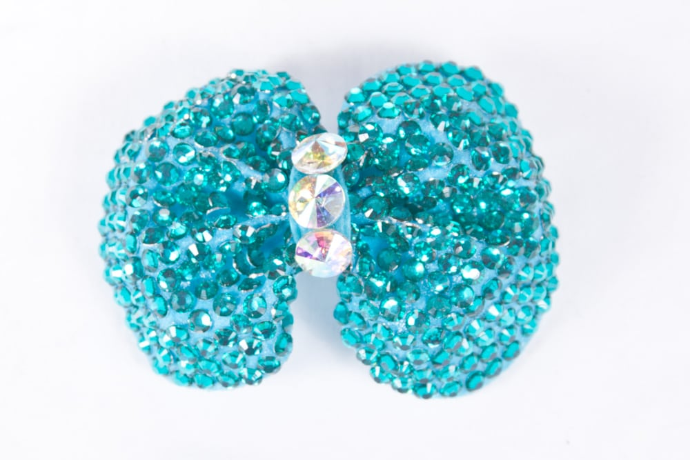 Minnie Bow Peacock Blue