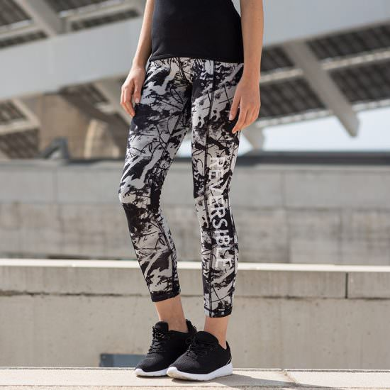 Reversible Work Out Leggings Black