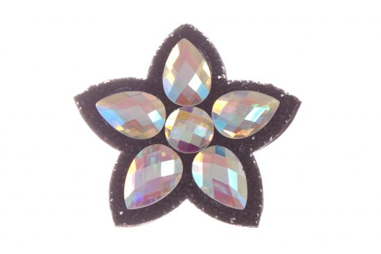 Single Bella Flower Clip Black