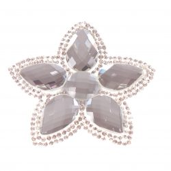 Single Bella Flower Clip Clear