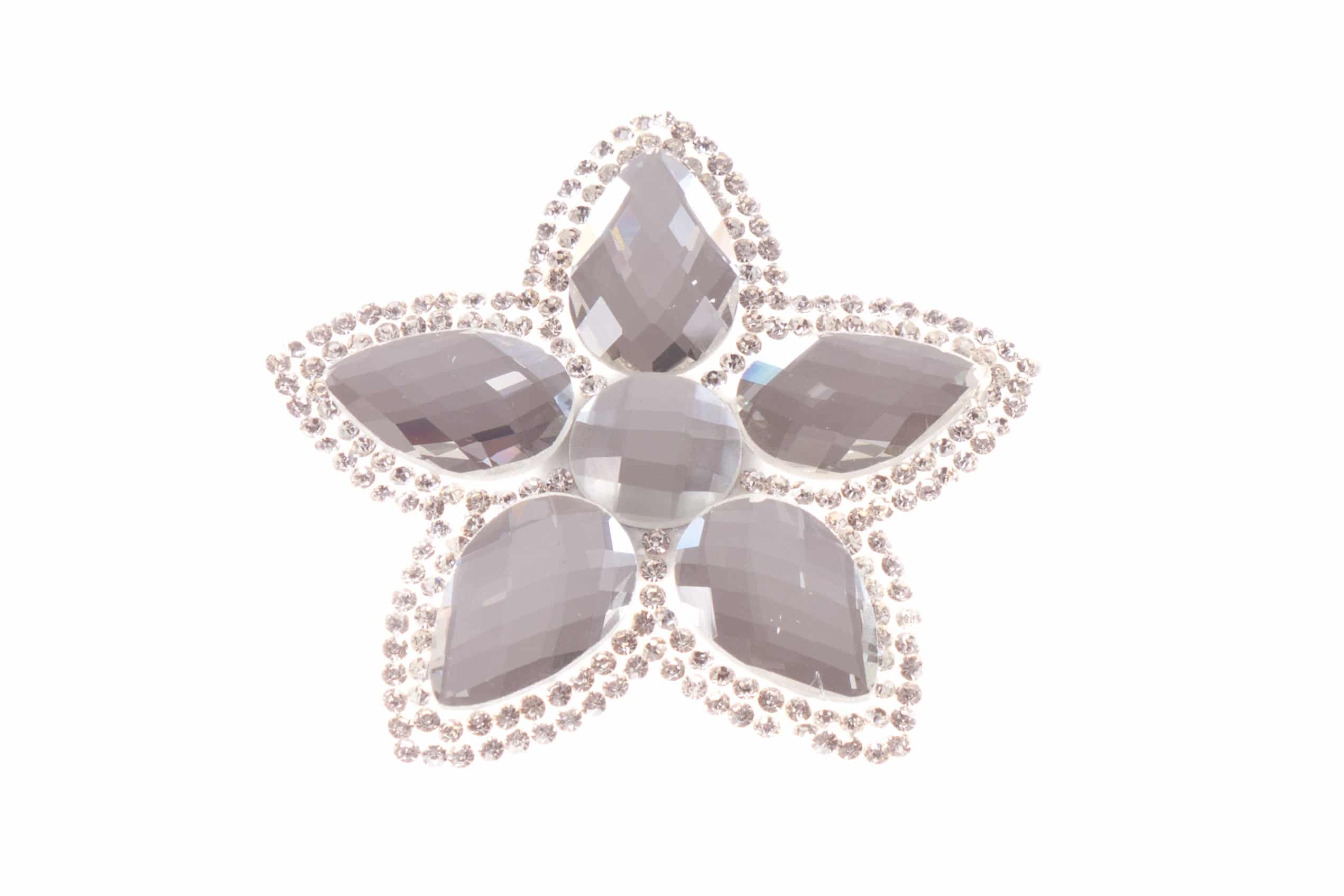 Single Bella Flower Clip Clear