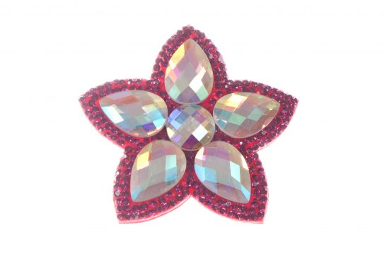 Single Bella Flower Clip Dark Pink