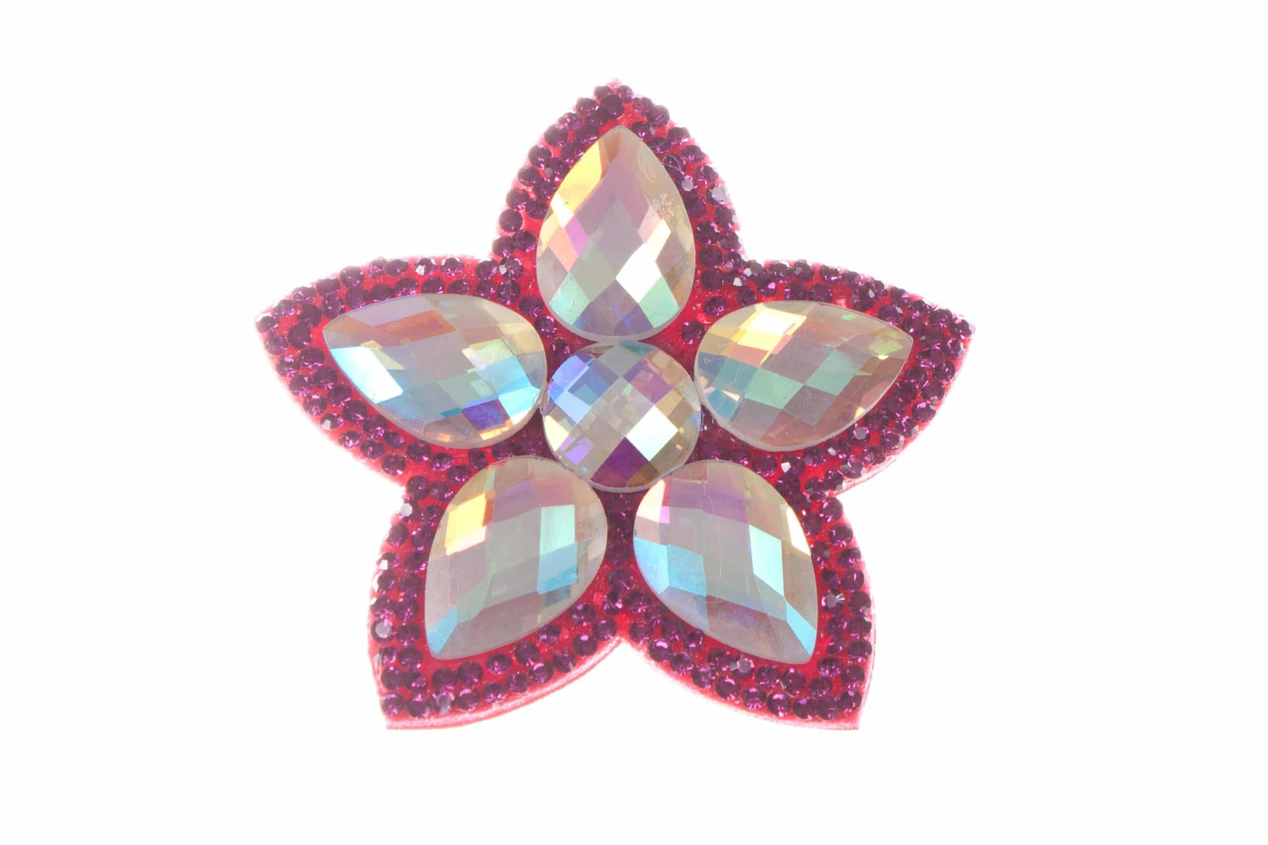 Single Bella Flower Clip Dark Pink