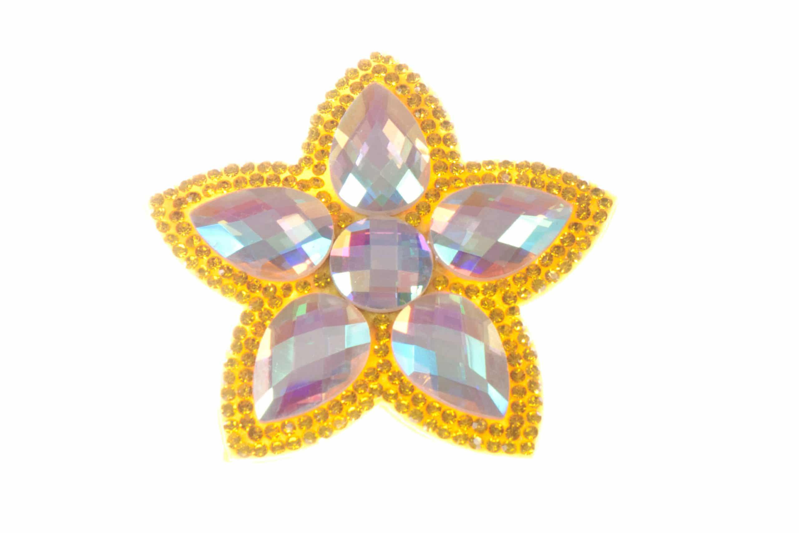 Single Bella Flower Clip Gold