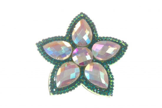 Single Bella Flower Clip Green