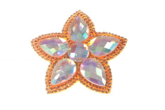 Single Bella Flower Clip Orange