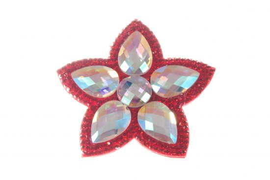 Single Bella Flower Clip Red