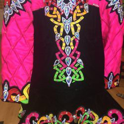Black and Multicoloured Dress
