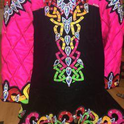 Black and Multicoloured Dress