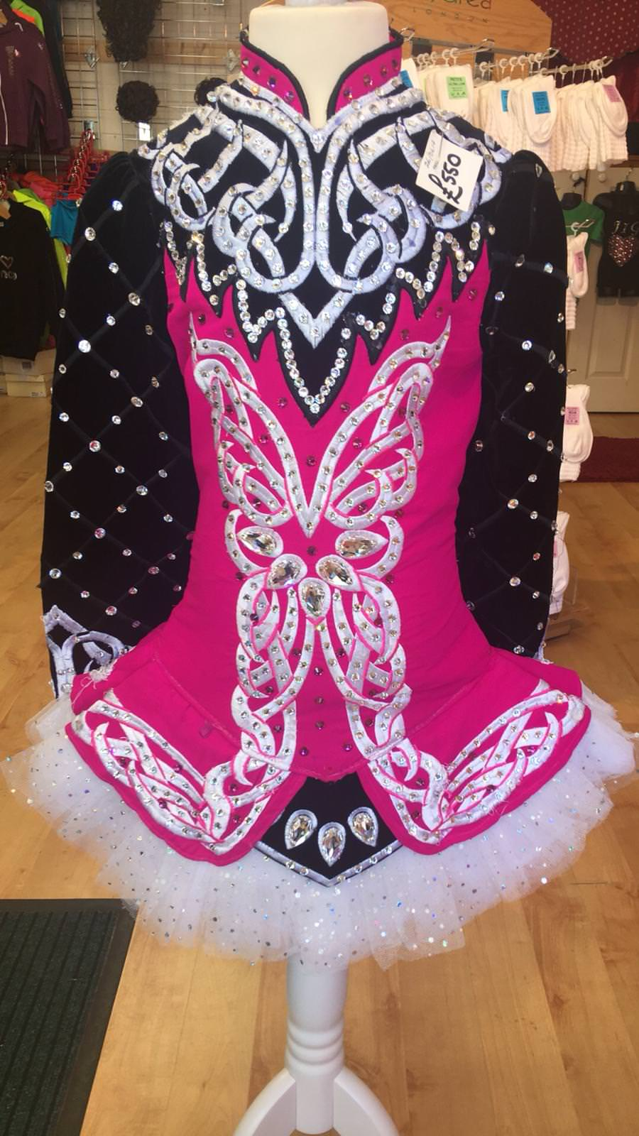 Pink, Black and White Dress