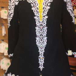 Black, Yellow and White Irish Dancing Dress