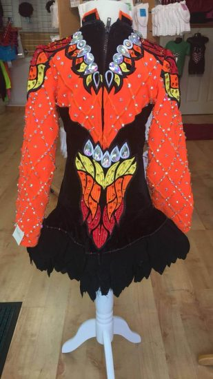 Orange, Black, Red and Yellow Flame Dress