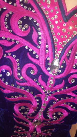 Pink and Purple Dress detail