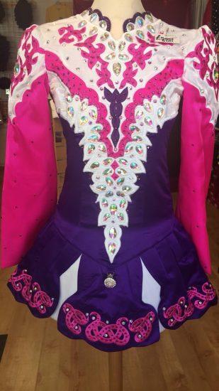 Purple, White and Pink Dress