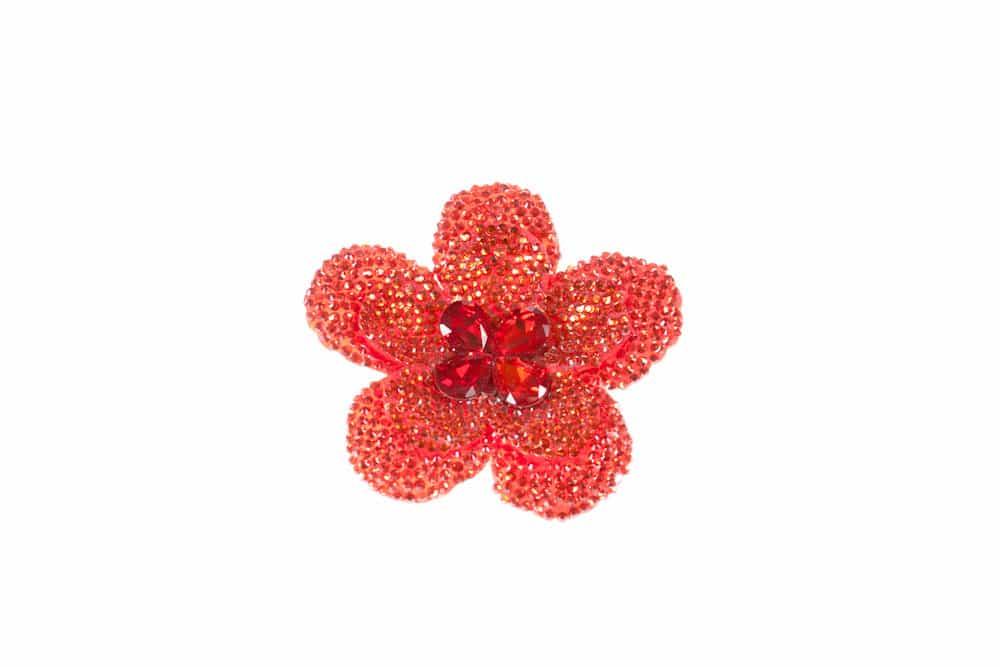 Round Flower Red