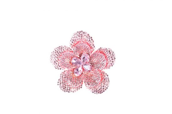 Round Flower Single Light Pink