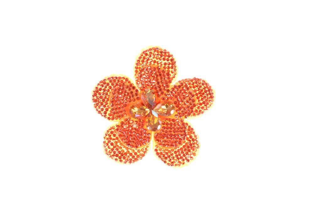 Round Flower Single Orange