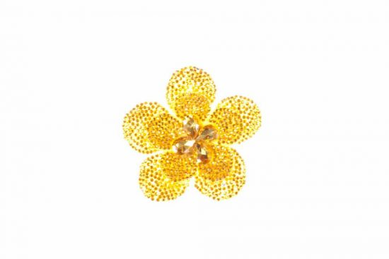 Round Flower Single Yellow