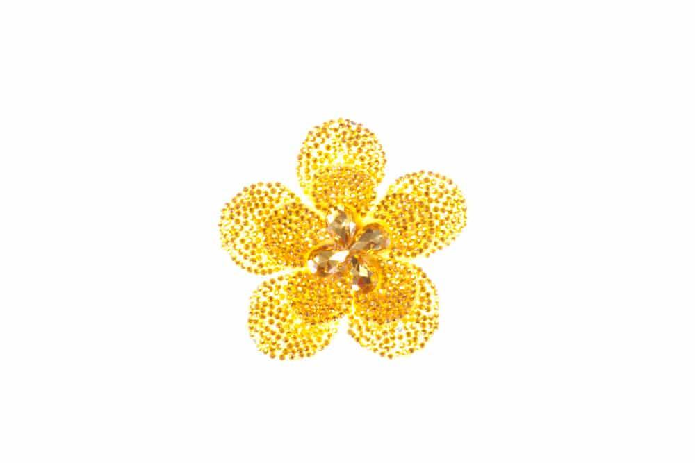 Round Flower Single Yellow